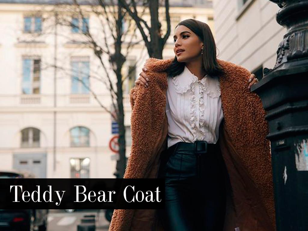 Look Camila Coelho com Teddy Bear Coat