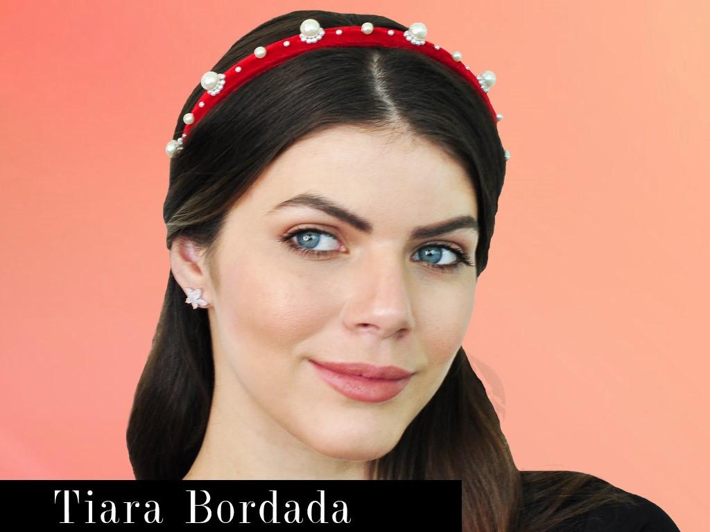 Post Tiara bordada